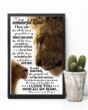 TO MY DAD - LION - I LOVE YOU FOR ALL THE TIMES 16x24 Poster lifestyle-poster-8