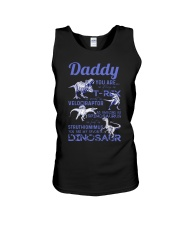 DAD - BLUE LETTERS IN BLACK - FAVORITE DINOSAUR Unisex Tank thumbnail