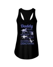DAD - BLUE LETTERS IN BLACK - FAVORITE DINOSAUR Ladies Flowy Tank thumbnail