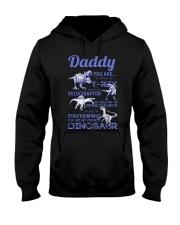 DAD - BLUE LETTERS IN BLACK - FAVORITE DINOSAUR Hooded Sweatshirt thumbnail