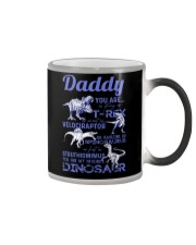 DAD - BLUE LETTERS IN BLACK - FAVORITE DINOSAUR Color Changing Mug thumbnail