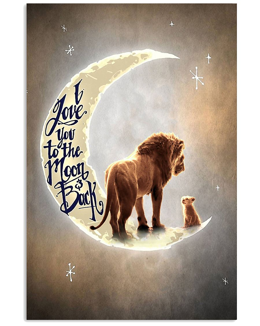 TO DAUGHTER - LION - I LOVE YOU TO THE MOON 16x24 Poster
