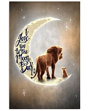 TO DAUGHTER - LION - I LOVE YOU TO THE MOON 16x24 Poster front