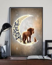 TO DAUGHTER - LION - I LOVE YOU TO THE MOON 16x24 Poster lifestyle-poster-2