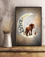 TO DAUGHTER - LION - I LOVE YOU TO THE MOON 16x24 Poster lifestyle-poster-3