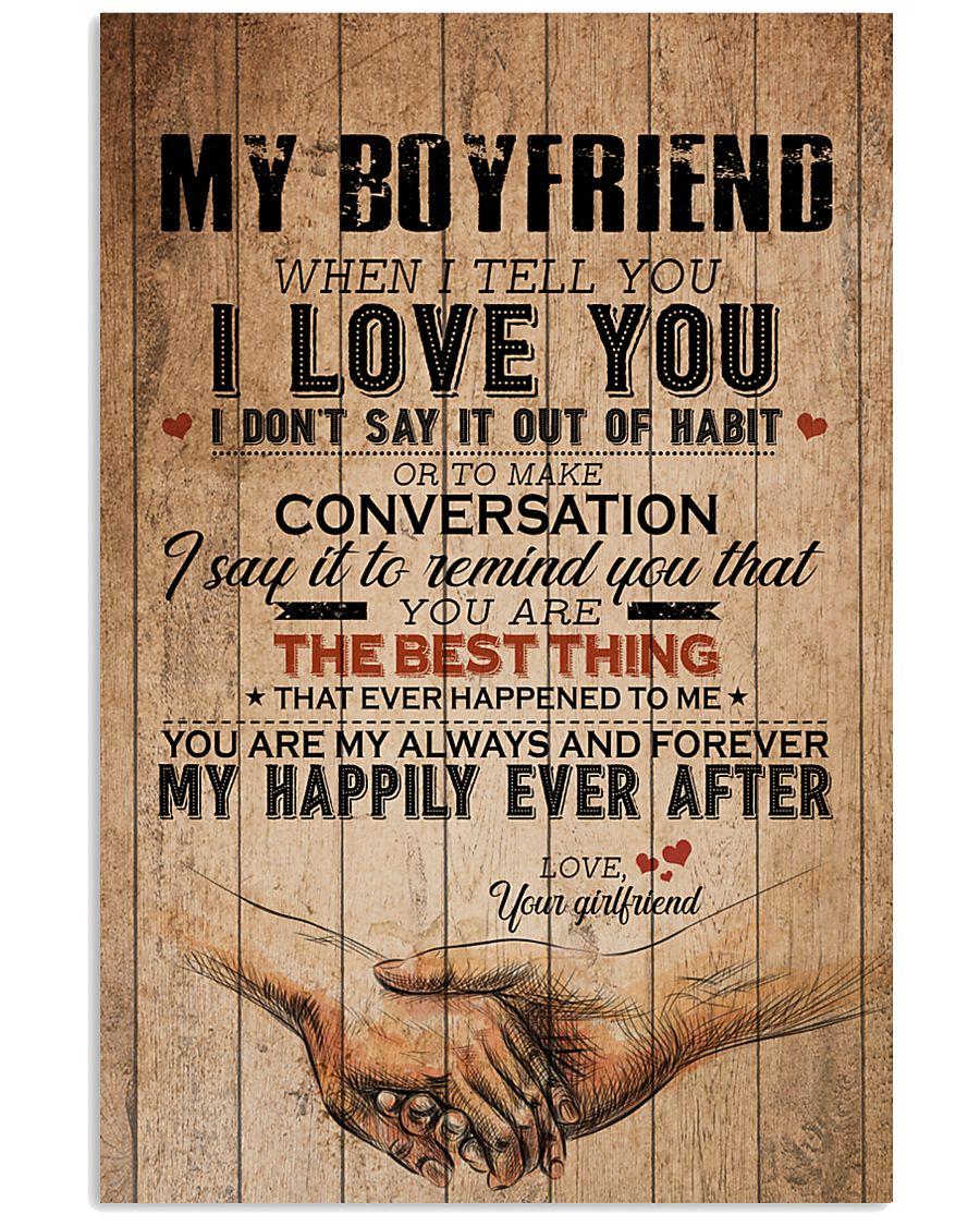 TO MY BOYFRIEND 16x24 Poster