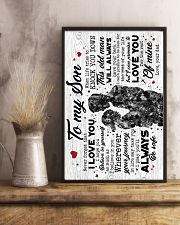To My Son - Hugging - I Hope You Believe 16x24 Poster lifestyle-poster-3