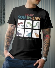 TO MY SON-IN-LAW - DINOSAUR - I LOVE YOU Classic T-Shirt lifestyle-mens-crewneck-front-6