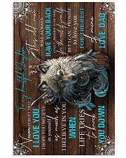 To My Daughter - Wolf - Never Forget That I  16x24 Poster front