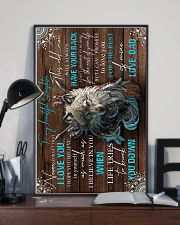 To My Daughter - Wolf - Never Forget That I  16x24 Poster lifestyle-poster-2