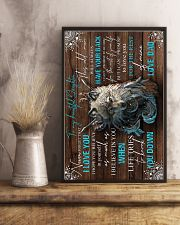 To My Daughter - Wolf - Never Forget That I  16x24 Poster lifestyle-poster-3