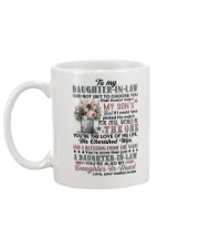 To My Daughter-in-law - Flowers Art - The One Mug back