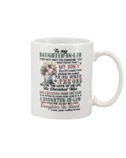 To My Daughter-in-law - Flowers Art - The One Mug front