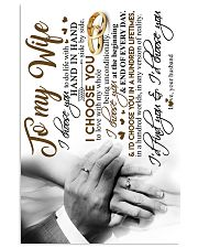 POSTER - TO MY WIFE - HAND IN HAND - I CHOOSE YOU 16x24 Poster front