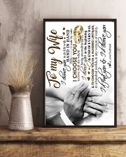 POSTER - TO MY WIFE - HAND IN HAND - I CHOOSE YOU 16x24 Poster lifestyle-poster-3
