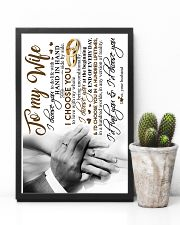POSTER - TO MY WIFE - HAND IN HAND - I CHOOSE YOU 16x24 Poster lifestyle-poster-8