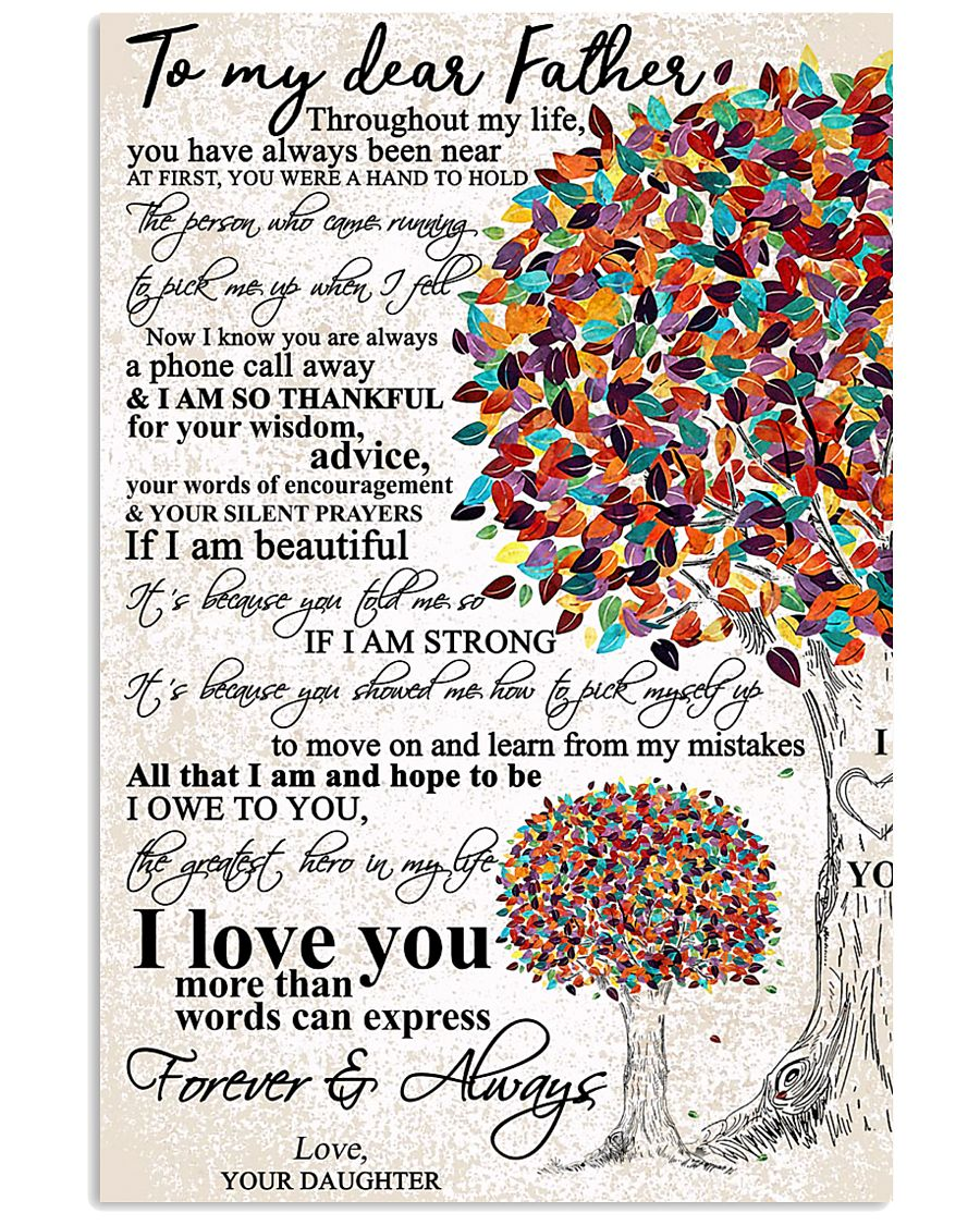 DAUGHTER TO DAD 16x24 Poster