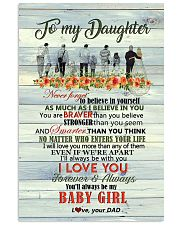 Daughter - Never Forget To Believe In Yourself Vertical Poster tile
