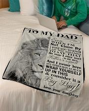 "To My Dad - Lion - Fleece Blanket Small Fleece Blanket - 30"" x 40"" aos-coral-fleece-blanket-30x40-lifestyle-front-07"