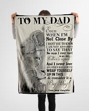 "To My Dad - Lion - Fleece Blanket Small Fleece Blanket - 30"" x 40"" aos-coral-fleece-blanket-30x40-lifestyle-front-14"