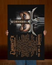 Dad To Daughter - To My Daughter - Be A Warrior  20x30 Gallery Wrapped Canvas Prints aos-canvas-pgw-20x30-lifestyle-front-22