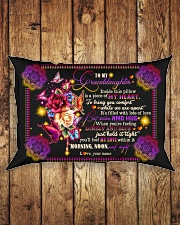 To Granddaughter - Best Wishes And Hug Rectangular Pillowcase aos-pillow-rectangle-front-lifestyle-2