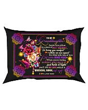 To Granddaughter - Best Wishes And Hug Rectangular Pillowcase back