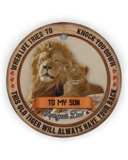 To My Son - Christmas - When Life Tries To Know  Circle ornament - single (wood) thumbnail