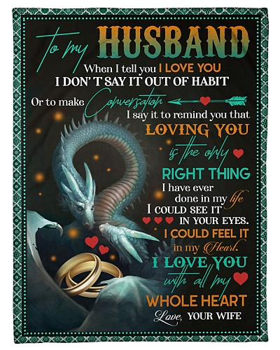 TO MY HUSBAND - DRAGON - I LOVE YOU