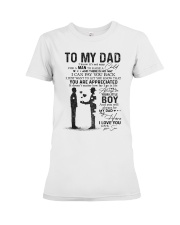 TO MY DAD Premium Fit Ladies Tee thumbnail