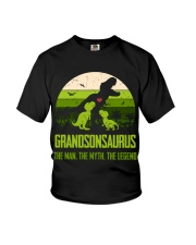 T-SHIRT - TO GRANDSON - T REX - THE LEGEND Youth T-Shirt front