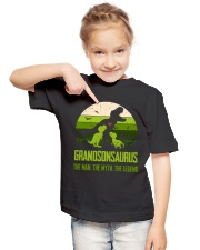 T-SHIRT - TO GRANDSON - T REX - THE LEGEND Youth T-Shirt lifestyle-youth-tshirt-front-2