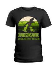 T-SHIRT - TO GRANDSON - T REX - THE LEGEND Ladies T-Shirt thumbnail