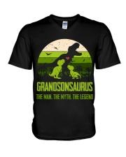 T-SHIRT - TO GRANDSON - T REX - THE LEGEND V-Neck T-Shirt thumbnail