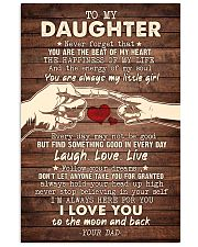 To My Daughter - You Are The Beat of My Heart 16x24 Poster front
