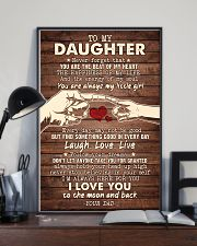 To My Daughter - You Are The Beat of My Heart 16x24 Poster lifestyle-poster-2