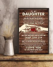 To My Daughter - You Are The Beat of My Heart 16x24 Poster lifestyle-poster-3