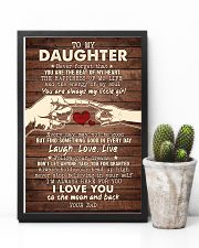 To My Daughter - You Are The Beat of My Heart 16x24 Poster lifestyle-poster-8