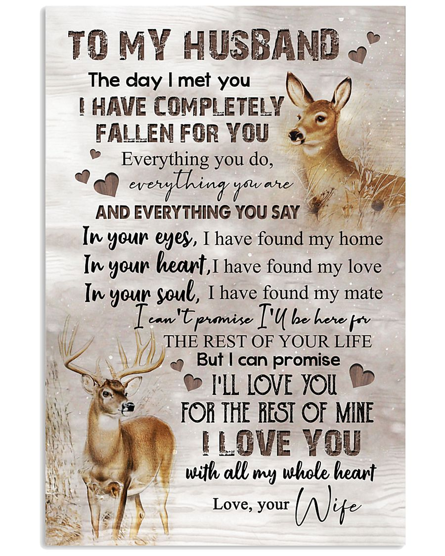 TO MY HUSBAND - DEER - I LOVE YOU 16x24 Poster