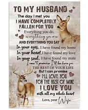 TO MY HUSBAND - DEER - I LOVE YOU 16x24 Poster front