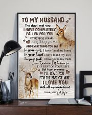 TO MY HUSBAND - DEER - I LOVE YOU 16x24 Poster lifestyle-poster-2