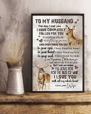 TO MY HUSBAND - DEER - I LOVE YOU 16x24 Poster lifestyle-poster-3