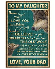 To My Daughter - Wolf - Never Forget That I Love  16x24 Poster front