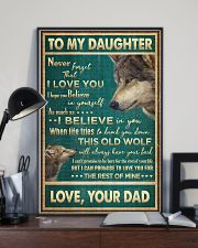 To My Daughter - Wolf - Never Forget That I Love  16x24 Poster lifestyle-poster-2