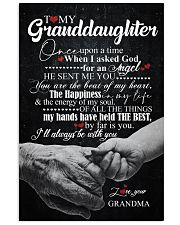 TO GRANDDAUGHTER - HANDS - ONCE UPON 16x24 Poster front