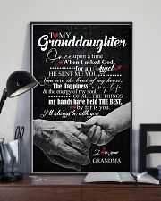 TO GRANDDAUGHTER - HANDS - ONCE UPON 16x24 Poster lifestyle-poster-2
