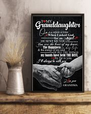 TO GRANDDAUGHTER - HANDS - ONCE UPON 16x24 Poster lifestyle-poster-3