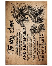 Dad To Son - Dragon - Never Feel That You Are 16x24 Poster front