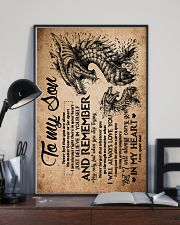 Dad To Son - Dragon - Never Feel That You Are 16x24 Poster lifestyle-poster-2
