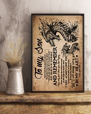 Dad To Son - Dragon - Never Feel That You Are 16x24 Poster lifestyle-poster-3